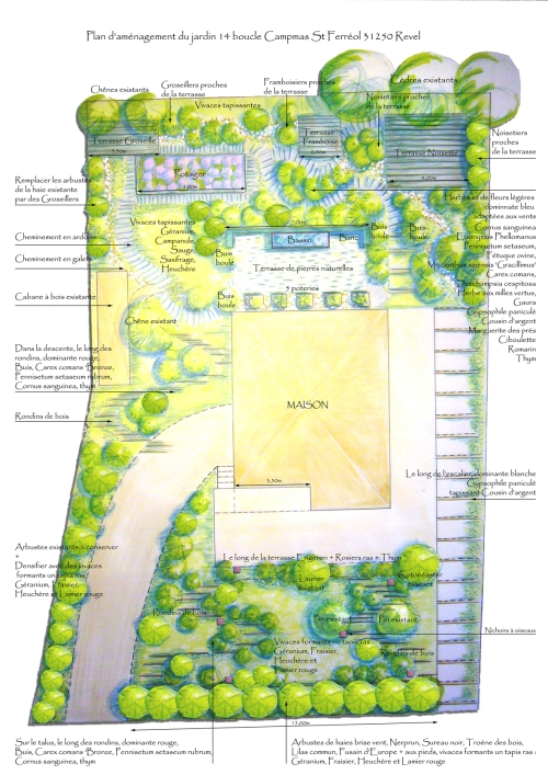 R alisations paysagiste jardin conseil for Plan jardin paysager